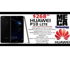 HUAWEI P10 LITE,CAMARA 12 MP, 3GB RAM, 32GB DE ALMACENAMIENTO, LTE 4G, NUEVOS DE PAQUETE $268