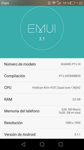 Huawei P7_l10 Se Entrega Solo El Celular