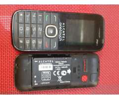 Celular basico alcatel one touch camara radio fm, micro sd