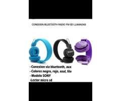 Audifonos Bluetooth Radio Fm Sd Llamadas