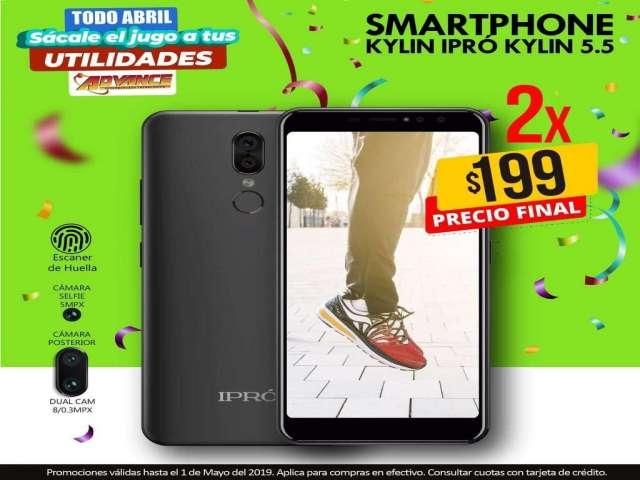 """Teléfono celular smartphone IPRO Kylin pantalla 5.5"""", negro"""