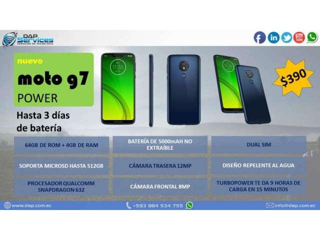 CELULAR MOTOROLA MOTO G7 POWER 3 DÍAS DE BATERÍA