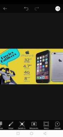iPhone 6g de 32   Nuevo