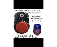 Parlante Bluetooh Radio Fm Sd Usb Recarg
