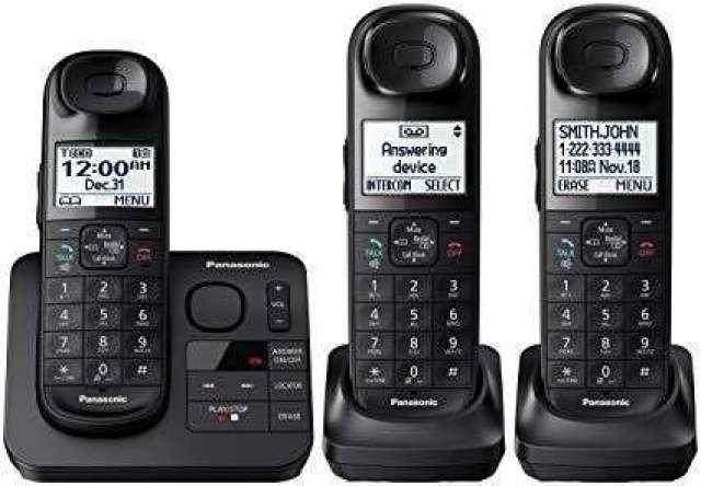 TELEFONO INALAMBRICO CON 2 EXTENSIONES PANASONIC USADO EN PERFECTO ESTADO POCO USO INFO WTSAP &...