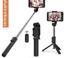 Baston Monopod Selfie Bluetooth Con Tripode Y Control Remoto