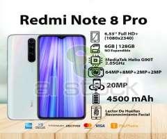 Note 8 Pro 6 128gb Gratis Mica Y Audífon