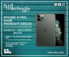 IPhone 11 PRO de 64gb Midnight Green NUEVO SELLADO Entrega INMEDIATA