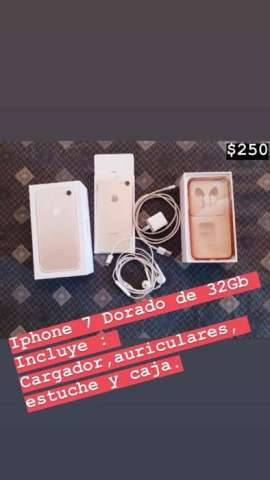 Iphone 7 Dorado de 32 GB